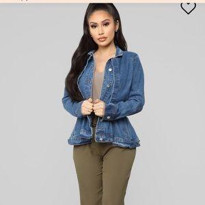 Fashion nova denim jacket NWT